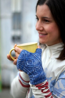 anne smiling with mug